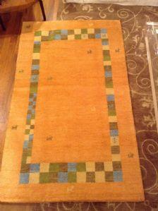 43836 indo gabbeh annodato a mano colori naturali cm 190 x 110